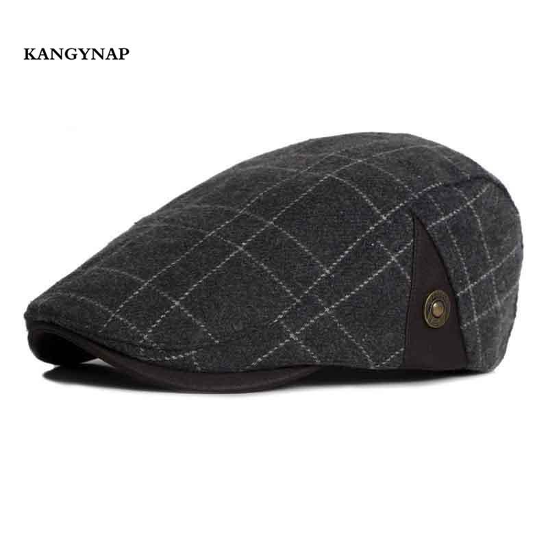 e2c44020ce9d0c 2019 KAGYNAP 2018 New Flat Cap Grid Dad Hat Fashion Men Women Beret Caps  Cotton Casual Hats High Quality Mens Peaked Caps From Fotiaoqia, $20.69 |  DHgate.