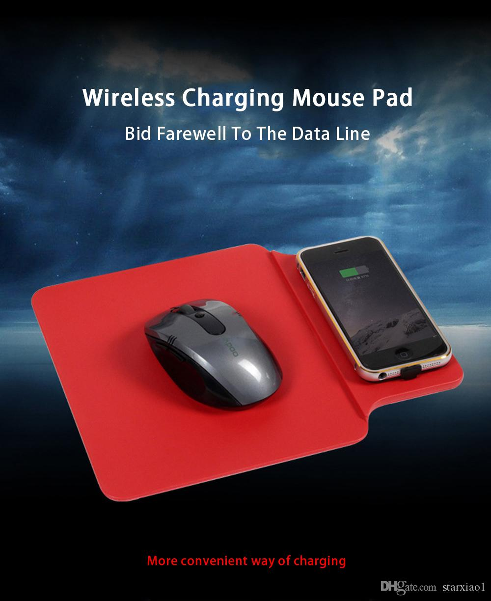 Tappetino mouse pad caricabatteria multifunzione Qi wireless Samsung Galaxy S8 Plus S7 S6 Edge iphone 8 plus iphone x