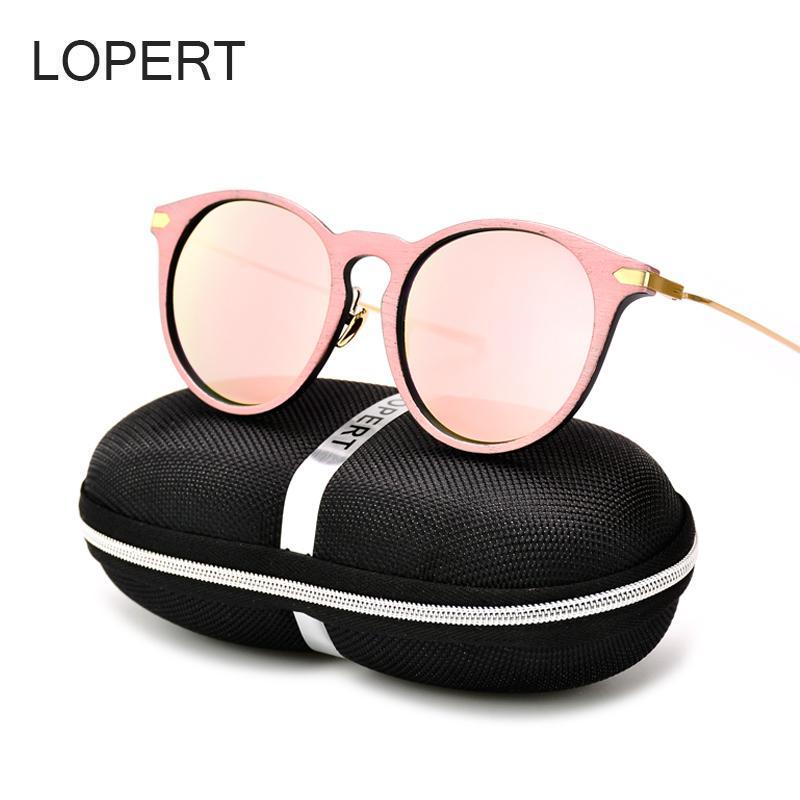 1f0d047935ce LOPERT Round Fashion Cat Eye Sunglasses Women Brand Designer Glasses High  Guality Pink Sun Glasses Oculos De Sol UV400 Polarised Sunglasses Baby  Sunglasses ...