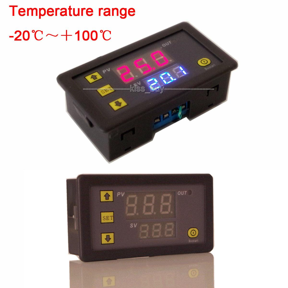 2018 Dc 12v Digital Dual Display Thermostat Controller Switch Led Temperature Temp Sensor Control From Zhenyuan666 2236