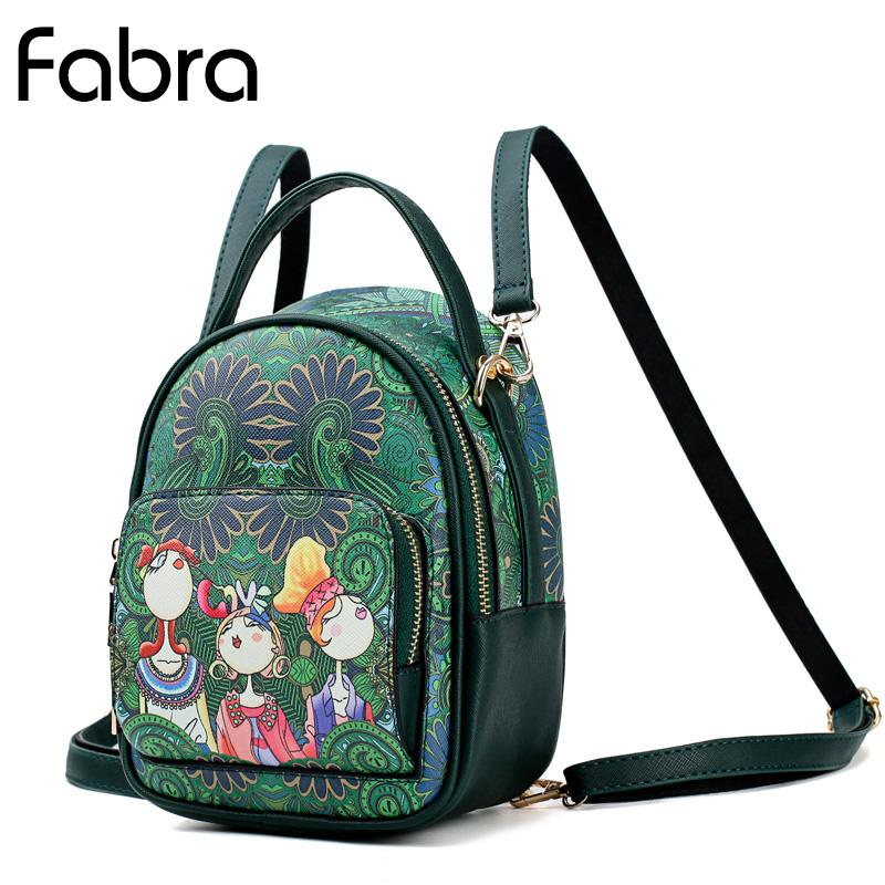 Fabra Soft PU Leather Mini Backpacks Girls Print Cartoon Green Shoulder Small  Bags Women Fashion Cute Daypacks Travel Bags School Bags Messenger Bags  From ... a3648affcac37