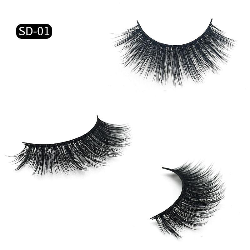 HOTsale!!New 3D Mink Eyelashes Eyelashes Messy Eye lash Extension Sexy Eyelash Full Strip Eye Lashes false eyelashes DHL Shipping