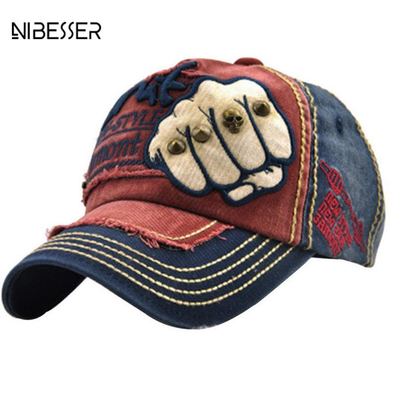 NIBESSER Cool Baseball Cap Men Women Embroidered Printed Female Male Punk  Rock Cap Funny Hats Hip Hop Baseball Caps Gorras Mujer Flat Brim Hats Baby  Cap ... 25ed366739c