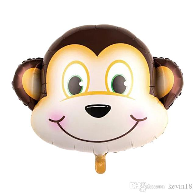 Jungle Animal foil Balloons monkey foil aluminum flying toy Helium Ballon birthday party decoration zoo theme supplies balloons