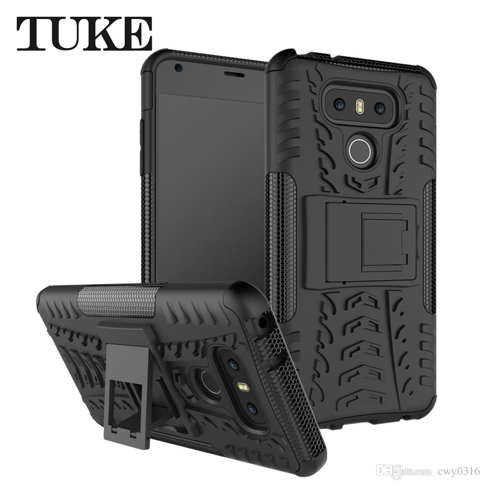 new product 33341 eaa32 Phone Case For LG G6 Hybrid Dual Hard Heavy Duty Shockproof Rugged Armor  Case For LG G 6 Back Cover Case With Stand Holder