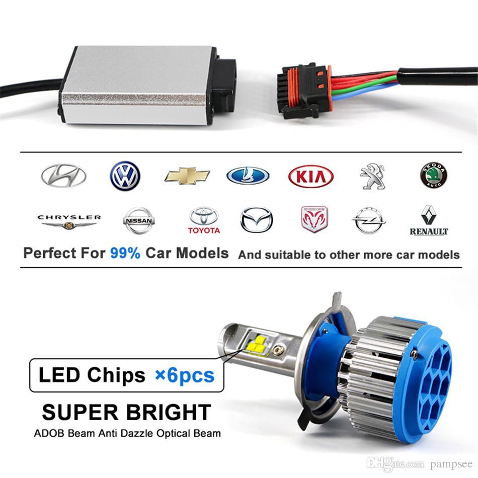 T1 Car Headlight H7 H4 LED H8/H11 HB3/9005 HB4/9006 H1 H3 H13 9007 70W 7000lm Auto Bulb Headlamp 6000K Light