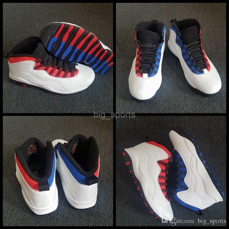 dbb7807c40e 2018 New Men 10 X Basketball Shoes Blue Red Sneakers Mens 10s Zapatos Designer  Basket Ball Athletic Trainers Brand Sports Shoes Size 41-47 Sneakers Men ...
