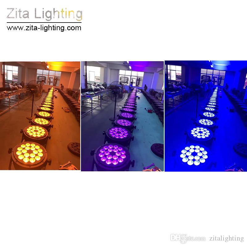 4 Pz / lotto Zita Lighting LED Par Lights Esterni IP65 Impermeabili Esterni Stage Lighting RGBW 18X10W 4IN1 5IN1 6IN1 DMX 512 Tower Wall Washer