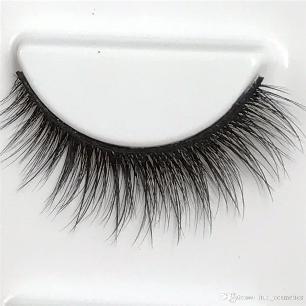 7557bf7e0c0 False Eyelashes Natural 3D Mink Lashes Eyelash Extension Handmade ...