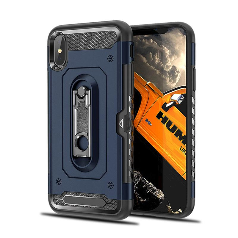 Future Hybrid Armor Case With Card Slot Kickstand For iPhone 9 X 8 7 6 5 SE Samung S7 Edge S8 S9 Plus Note Note8 J2 J5 J7 Prime