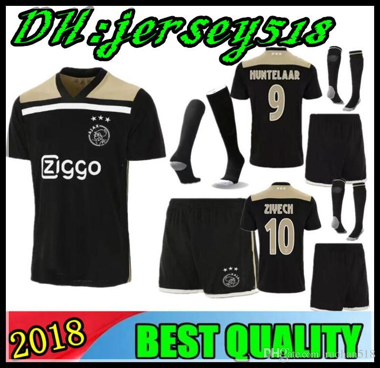 61350385e49 2019 2018 2019 Ajax Kids Soccer Jersey 18 19 Ajax Away Children Soccer Shirt  2019 VAN DE BEEK NOURI DOLBERG HUNTELAAR ZIYECH Football Shirt From  Ruohan518