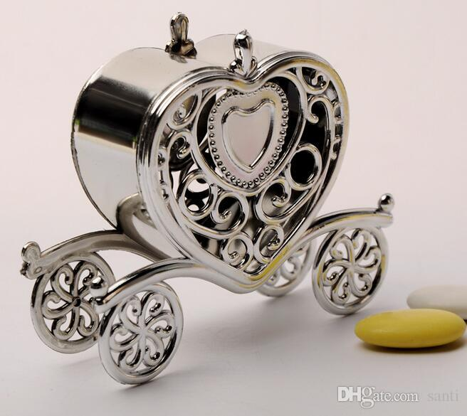 Gold Silver Carriage Candy-Box Gift Sweets boxes Birthday Party Wedding Favours Decoration Christmas Shower Gift