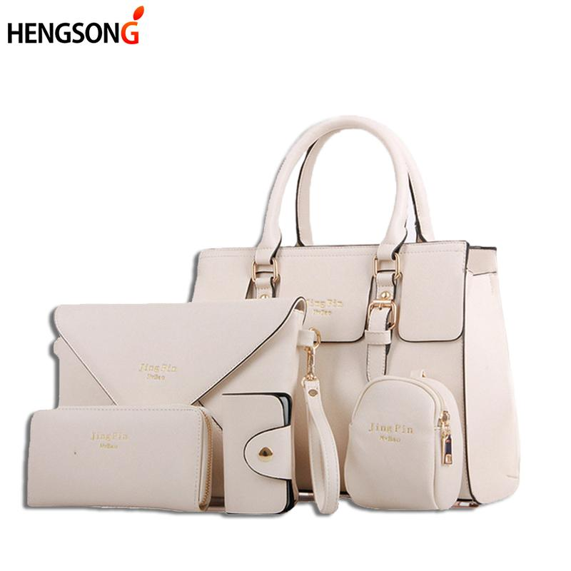 bc4ae77248eb Fashion Women Handbag Purse Set Classic Messenger Bag Imitation Leather  Shoulder Bag Ladies PU RV966372 Discount Handbags Best Handbags From  Paradise12