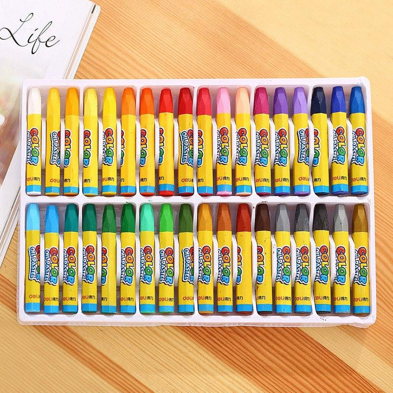 1pcs 6964 crayons, 36 color oil painting bar art student type healthy and tasteless color random