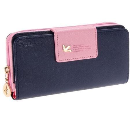 half off 2c945 f2d0d Wallets 2018 Clutch Fashion leather women s wallet zipper bag vintage  female wallet purse fashion card holder phone pocket long women wallet