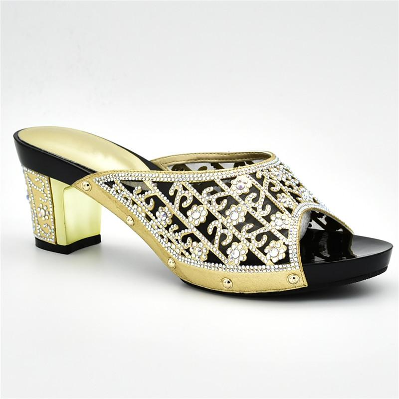 f0f6ebee6577 Latest Rhinestone Wedding Shoes Italian Women Party Pumps Bridal Shoes  Elegant Slip On Ladies Sandals With Heels Women Sandals Leather Shoes  Moccasins For ...