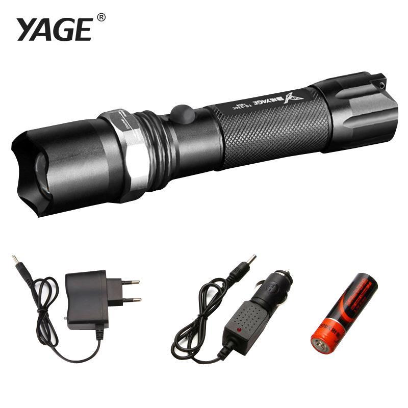 Yage 336c Rechargeable 18650 Flashlight Cree Led Flashlight Torch