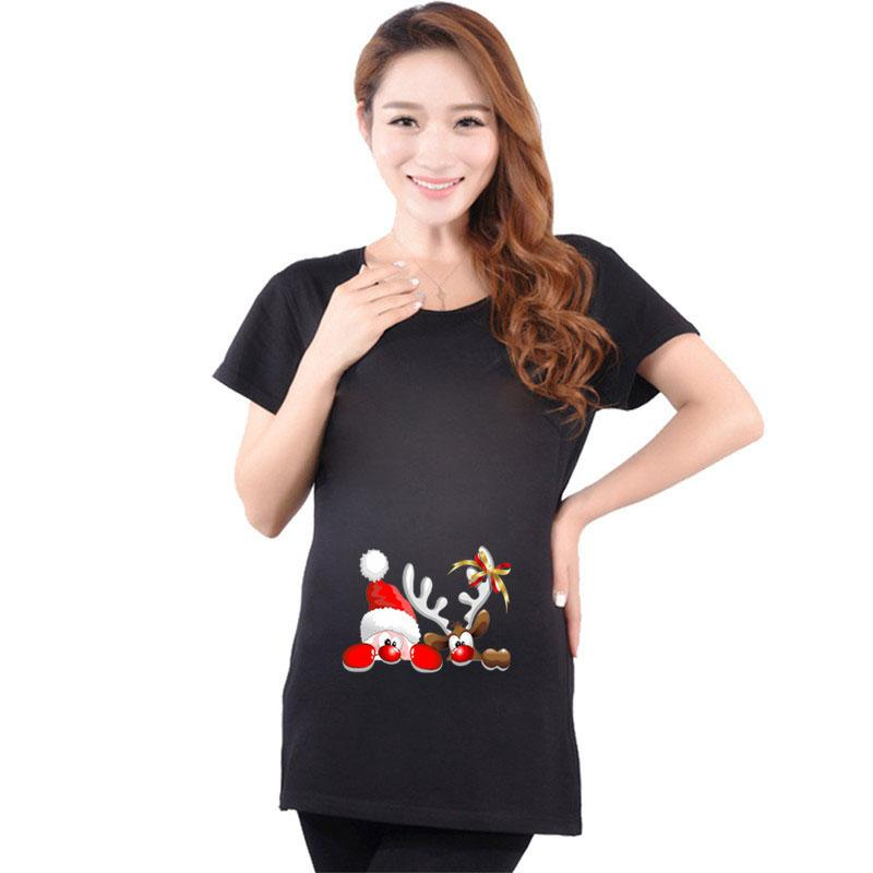 c108111bb5f7e 2019 Cotton Santa Claus Maternity Pregnant T Shirt Christmas Gift For Pregnancy  Maternity Clothes Funny Shirts Cartoon From Orchidor, $25.66   DHgate.Com