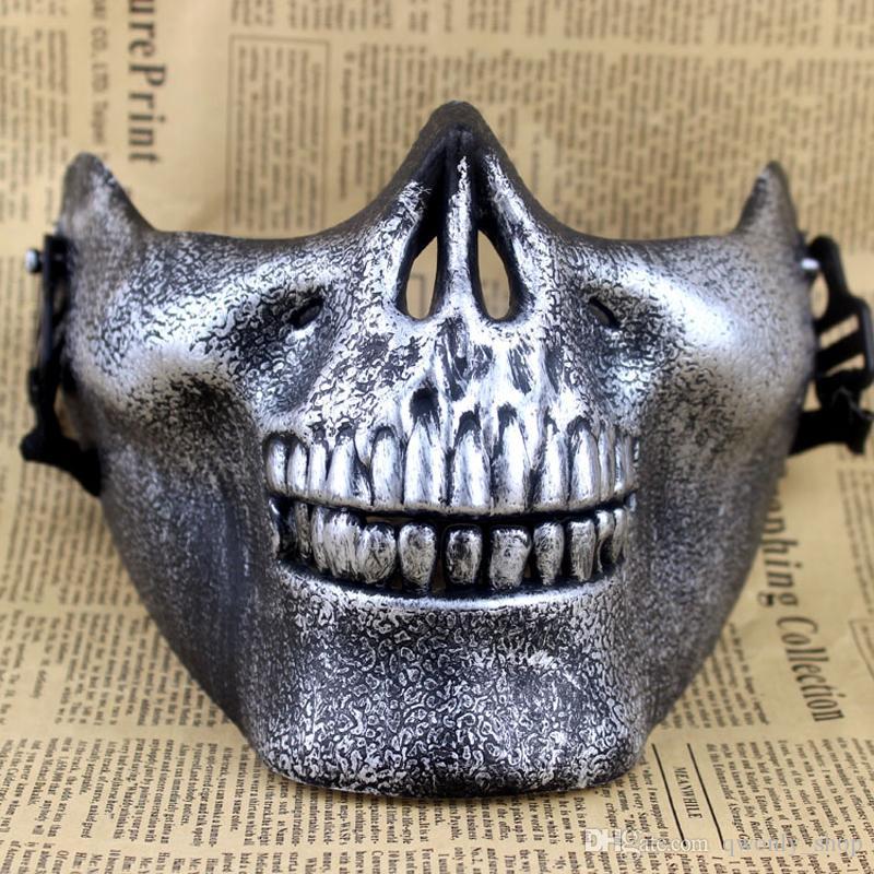 CS Máscara Regalo de Carnaval Calavera de miedo Esqueleto Paintball Cara inferior máscara máscara guerreros Máscara protectora para la fiesta de Halloween