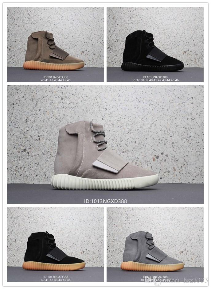 729389e5c8c1 NEN 750 Sneakers Glow In The Dark Brown Kanye West Leather Ankle ...