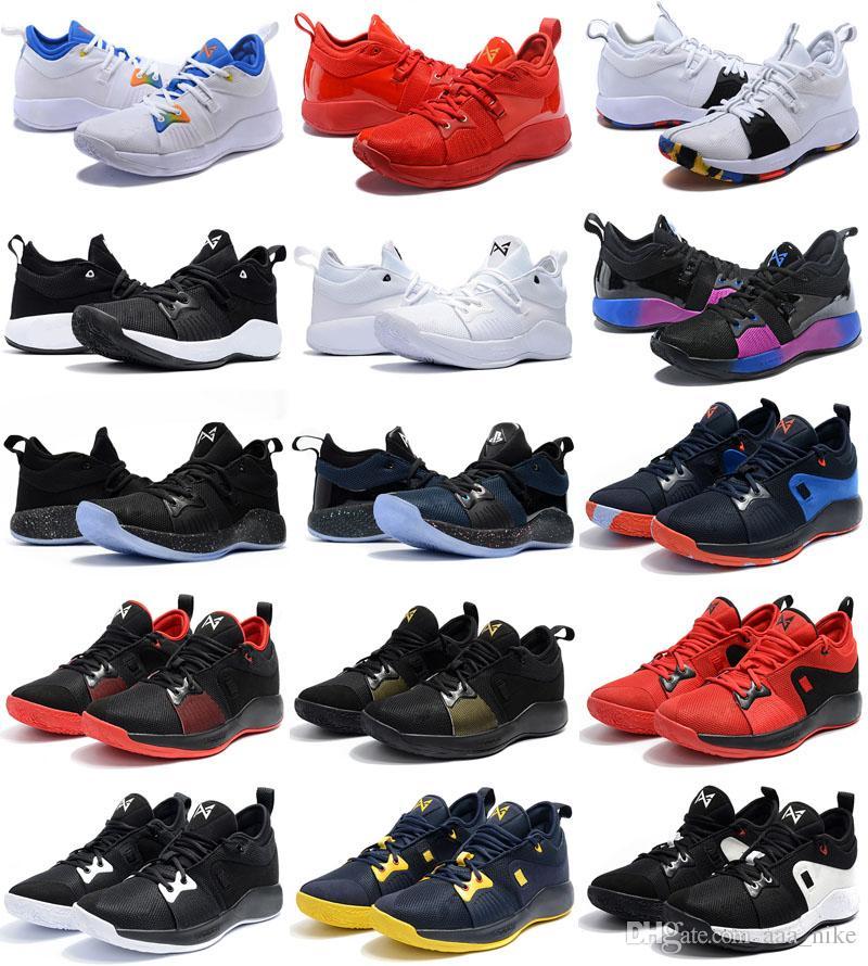 2 2s George Pg2 Nike Or 2018 Pg Selling Oreo Hommes Ep Chaussures Hot Sport Paul Noir Ball Bleu De Basket Playstation Wb2YeHEID9
