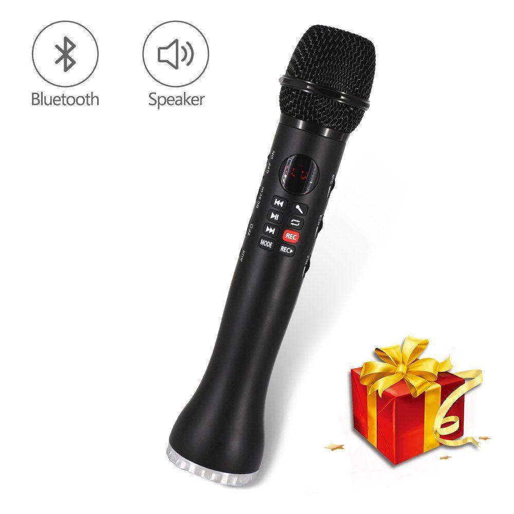 Wireless Bluetooth Karaoke Microphone 3-in-1 Portable Handheld Built in 9W  Speaker for Phone Tablet PC By XIAOKOA