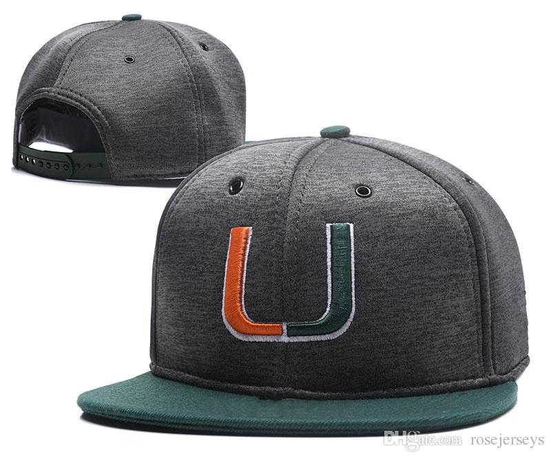 best website 07e78 9a55c ... order 2018 ncaa miami hurricanes caps 2018 new college adjustable hats  all university snapback in stock