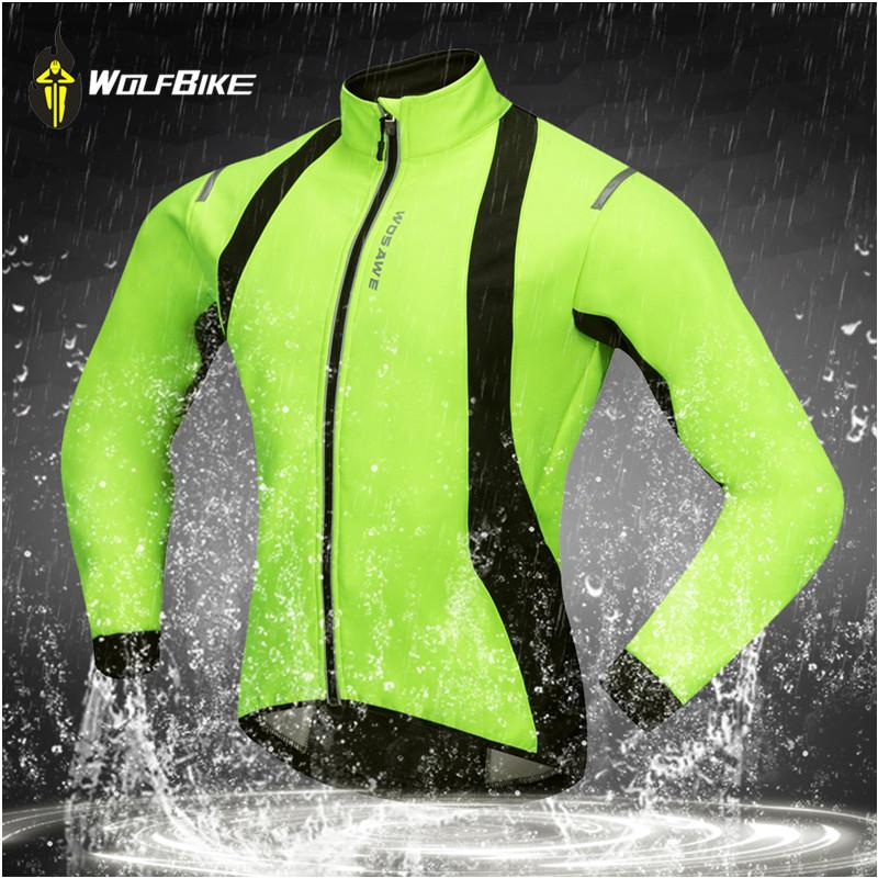Wolfbike Winter Cycling Jacket Bicycle Soft Shell Thermal Fleece ... 1a1c22906