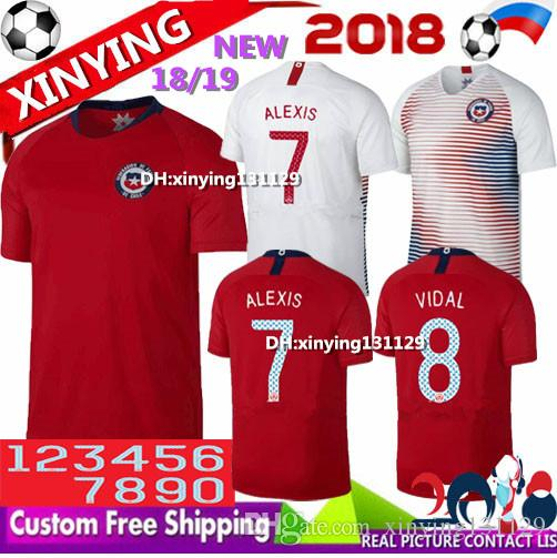 170018a1f2e 2019 Chile Jersey 2018 World Cup Home Away ALEXIS Soccer Jerseys 20 19  Sanchez VIDAL MEDEL18 19 Thai Quality Chile Football Shirt From  Xinying131129
