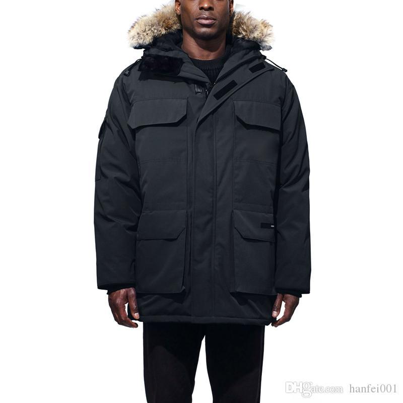 Oberbekleidung Farbe Winter Paar Mit Kapuze Soild Männer Mode Hflsjk209 Daunenjacke 18fw Warme Goose Expedition SMqzGUVp