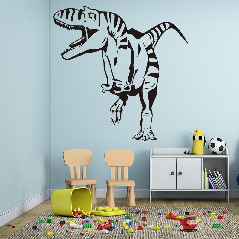 kids room playroom decor wallpaper dinosaur wall stickers waterproof