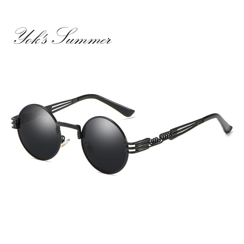 703ede44c5005 Yok S Hot Sell Small Round Polarized Sunglasses Women Men Brand Steampunk  Metal Frame Glasses Hippie Vintage Shade Eyeglasses Oculos UN881 Best  Sunglasses ...