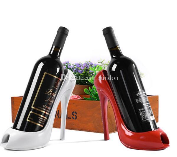 efc8735cfcad 2019 High Heel Shoe Wine Bottle Holder Shoes Design Silicone Wine Bottle  Holder Rack Shelf For Home Party Restaurant Free DHL From Sundon
