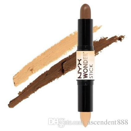 (1 pc / lote) Nuevo 4 COLOURS PROFESIONAL CONCEALER NYX Wonder stick resalta y contornea la barra de sombra Light Medium Deep Universal corrector NYX