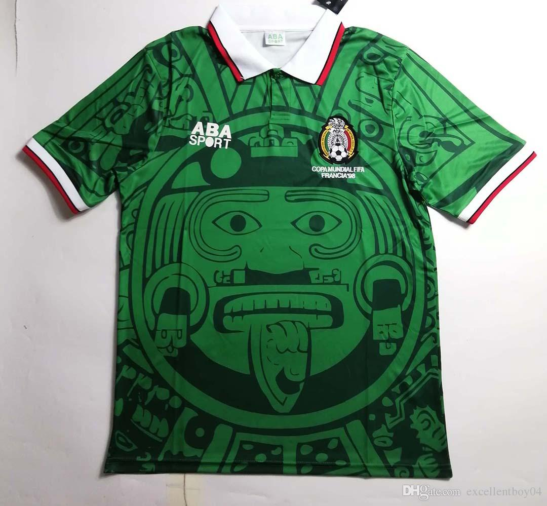 4dc7afcf7 2019 Mexico Retro Jersey 1998 Mexico World Cup Classic Vintage Soccer Jersey  Home Color Green Size S XL From Excellentboy04, $23.36 | DHgate.Com