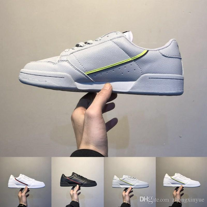 Grey OG White Continental 80 Running Shoes Core black Aero Blue Casual Shoes Skateboard Classic White Shoes Shoe Size 40 45 free shipping