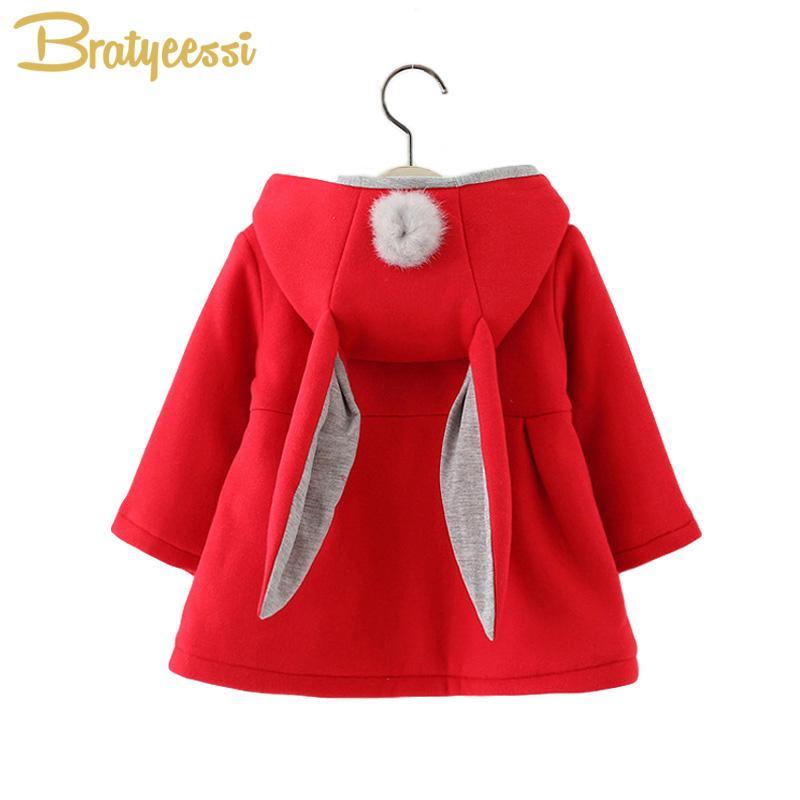 b92f51c35c63 Cotton Baby Jacket With Long Ears Cartoon Hooded Infant Coat Autumn ...