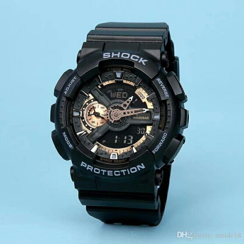 Novos homens e mulheres da moda assistir esportes de alta qualidade relógio dual LED relógio à prova d 'água multi-função digital eletrônico neutro watch.gift