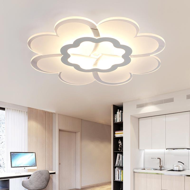 Cooperative Led Ceiling Light Modern Lamp Living Room Lighting Fixture Bedroom Kitchen Surface Mount Flush Panel Remote Control Ceiling Lights & Fans