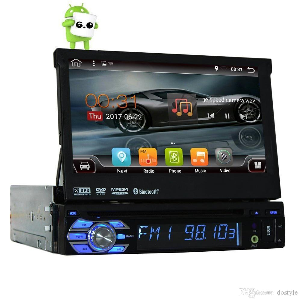 Quad Core Android 6.0 Single Din 7 Universal Touch Screen Car DVD Player  Autoradio GPS Auto Radio Stereo Car Audio BT SD WIFI A Dvd Player A  Portable Dvd ...