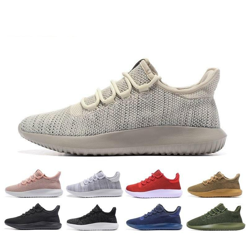 sports shoes a7e2e 0cdbb Originals Tubular Shadow Breathable men and women Running Shoes Knit Core  Black White Cardboard Tubular Shadow 3D Boots Training Shoes