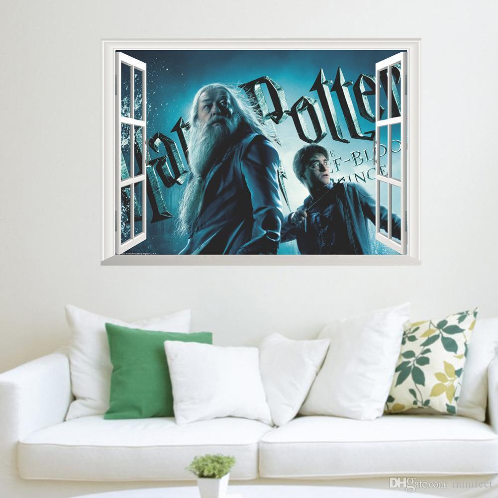Acheter Harry Potter Faux Fenetre 3d Autocollants Etanche