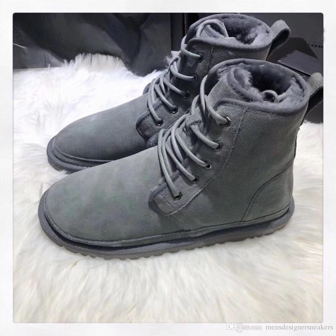 eb5abb29e1e Top Quality BOOTS NEUMEL HARKLEY SUEDE Winter boots running shoe men's  classic boots Newm series straps casual warm mini boot size 39-44