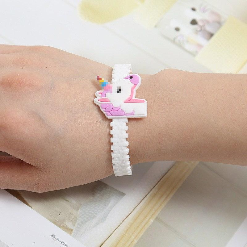 10 Style Children Charm Unique Unicorn Bracelets Girls Boys Birthday Party  Bag Fillers Kids Baby Silicone Wristband Child Toy Christmas Gift