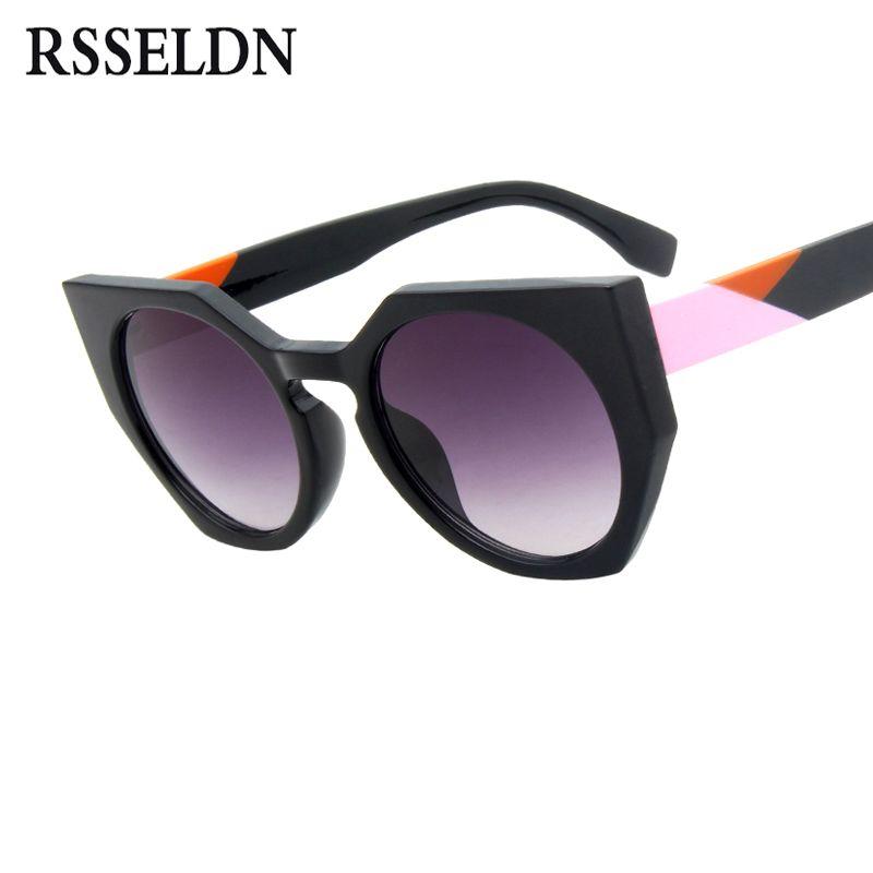 da636b200faa RSSELDN Cat Eye Sunglasses Women Brand Designer Vintage Gradient Round Sun  Glasses For Women 2018 Fashion Shades Oculos UV400 Bifocal Sunglasses Retro  ...