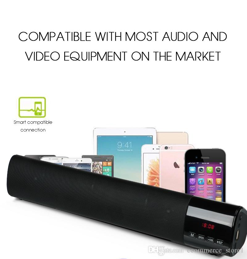 Big Power 10W HIFI Portable Wireless Bluetooth Speaker Stereo Soundbar 1800mAh Loudspeaker TF FM USB Subwoofer Column for Computer TV Phone
