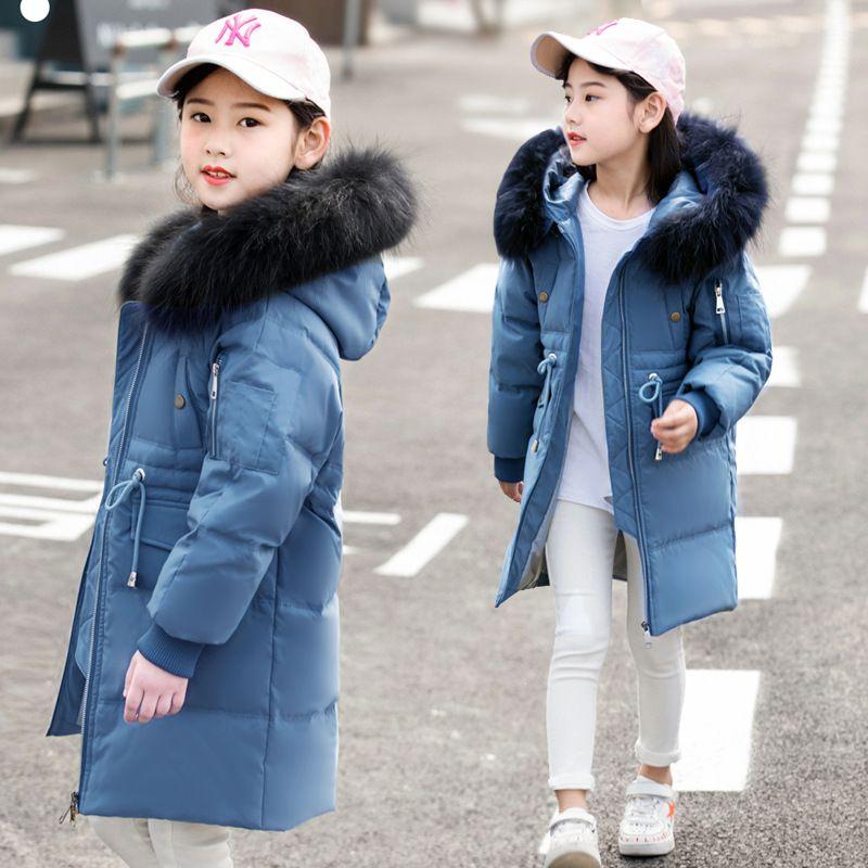 f8360468c New Fur Hooded Kids Winter Jacket Girls Warm Coats 2018 Children ...