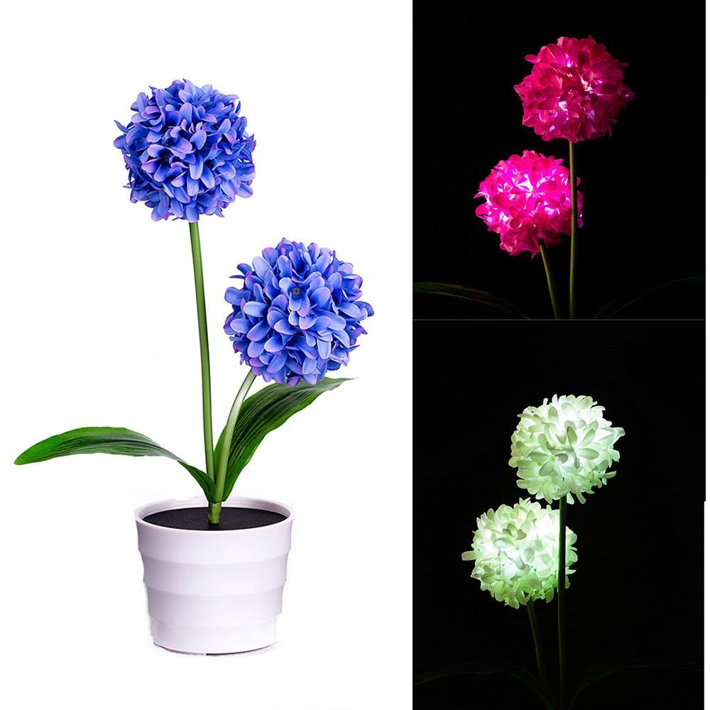 Blanc Fleur Nouveau Onion Alimenté Ball Lights Led Solar Flower Pot Artificielle Bonsai Lampe Chaud Solaire 76IbyYfgv