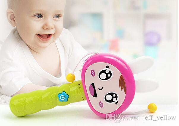 0-1 year old baby newborn baby toys drum drum rattle Rattle toy with music