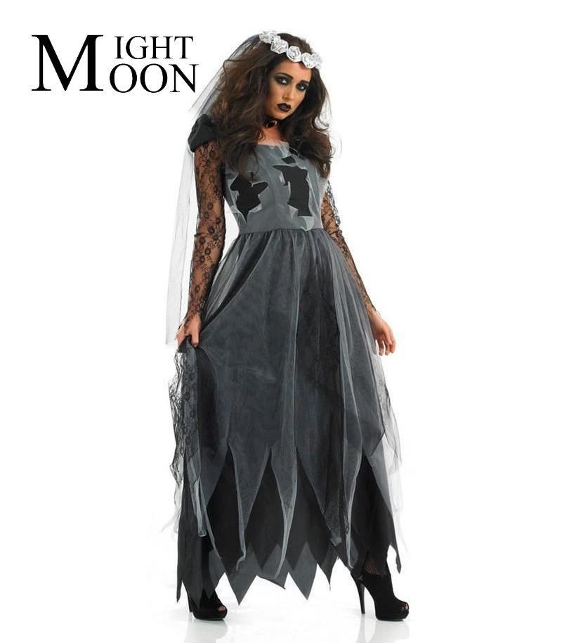 dc500fb9853b Acquista MOONIGHT Fallen Bridge Costume Da Sposa Cadavere Vestito Da Donna  Costume Cosplay Creepy Party Costumi Zombie A  27.87 Dal Dalivid